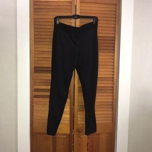 Faux suede panel leggings